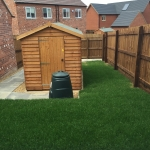 33. Rear Garden Slabbing & Shed Base