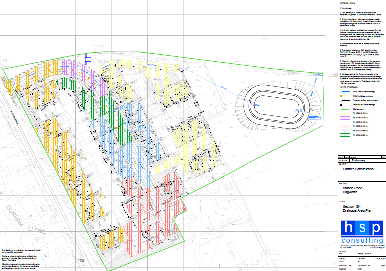 Partner Construction, Drainage Area Plan